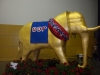 The GOP elephant greets folks as they come into the convention hall
