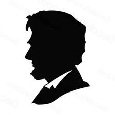 Abe Lincoln silhouette